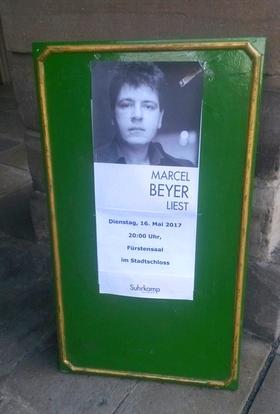 Lesung: Marcel Beyer